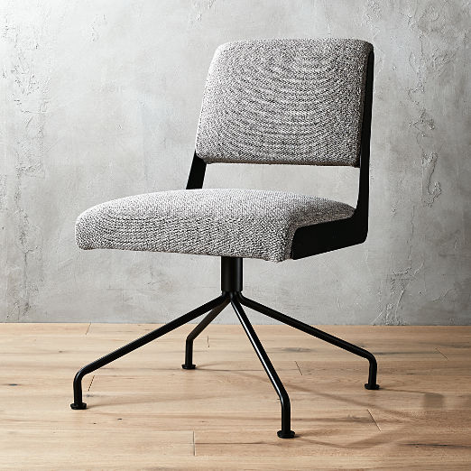 Rue Cambon Grey Tweed Office Chair