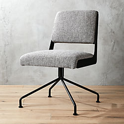 office chairs pictures white rue cambon grey tweed office chair modern chairs cb2