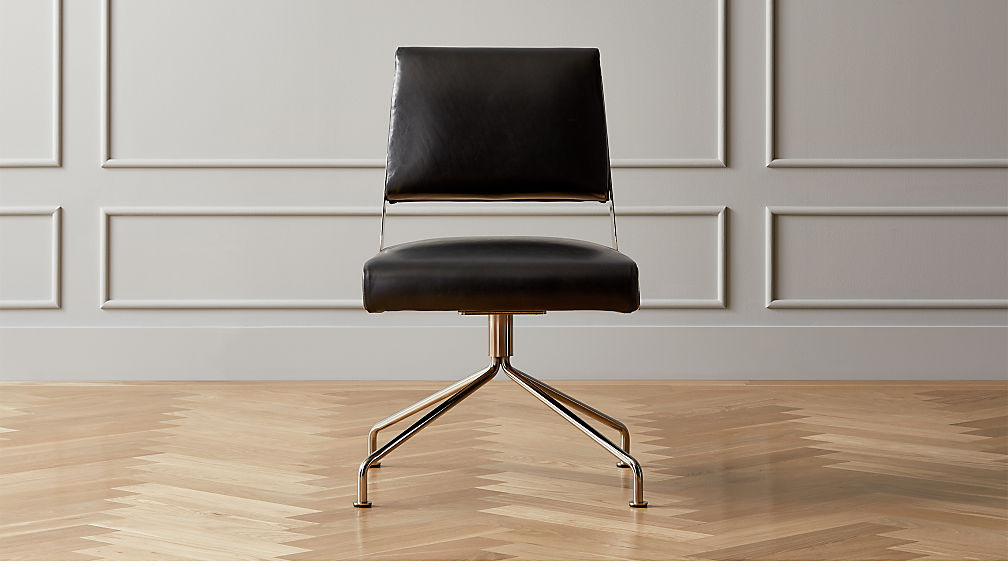 Rue Cambon Leather Office Chair - Image 1 of 7