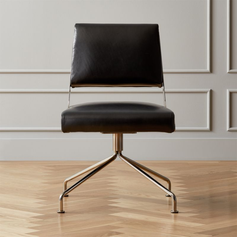 Strange Rue Cambon Leather Office Chair Cb2 Cjindustries Chair Design For Home Cjindustriesco
