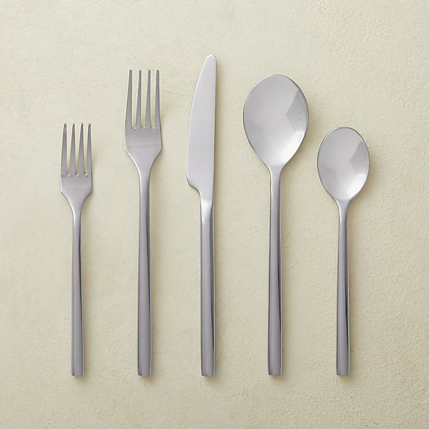 20-Piece Rush Shiny Silver Flatware Set - Image 1 of 2