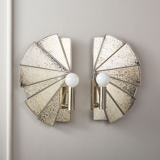 Desmond Antique Mirror Sconces
