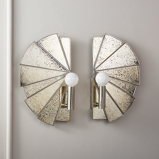 Desmond Antique Mirror Sconces - Image 1 of 11