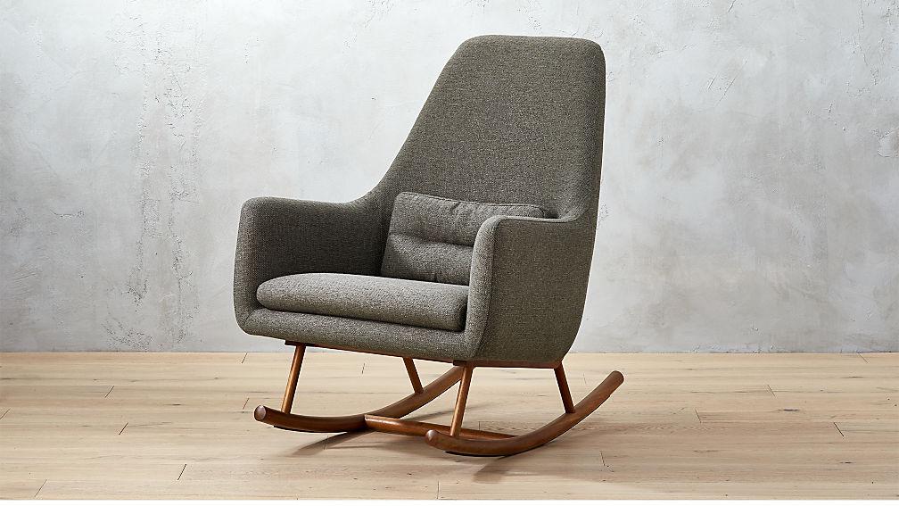 Saic Quantam Charcoal Grey Rocking Chair