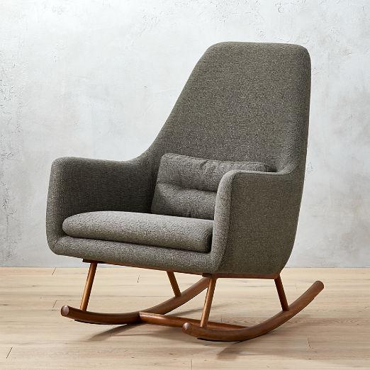 Etonnant Saic Quantam Charcoal Grey Rocking Chair