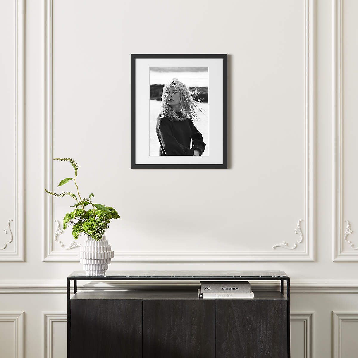 """Bardot Poses with Black Frame 21.5""""x25.5"""" (Open Larger View)"""