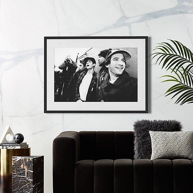 The Beastie Boys With Black Frame 42x31 Reviews Cb2
