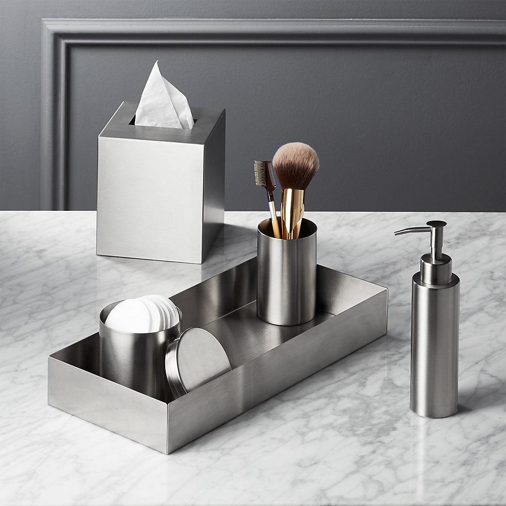 Modern Bathroom Accessories For Stylish Vanities | CB2