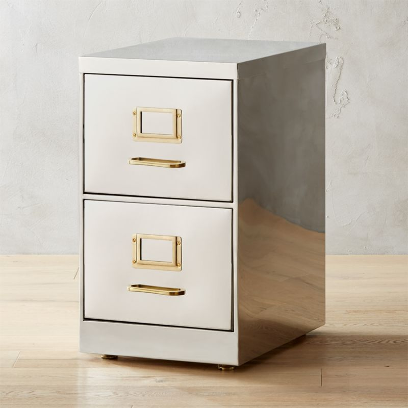 Small Stainless Steel File Cabinet Reviews Cb2
