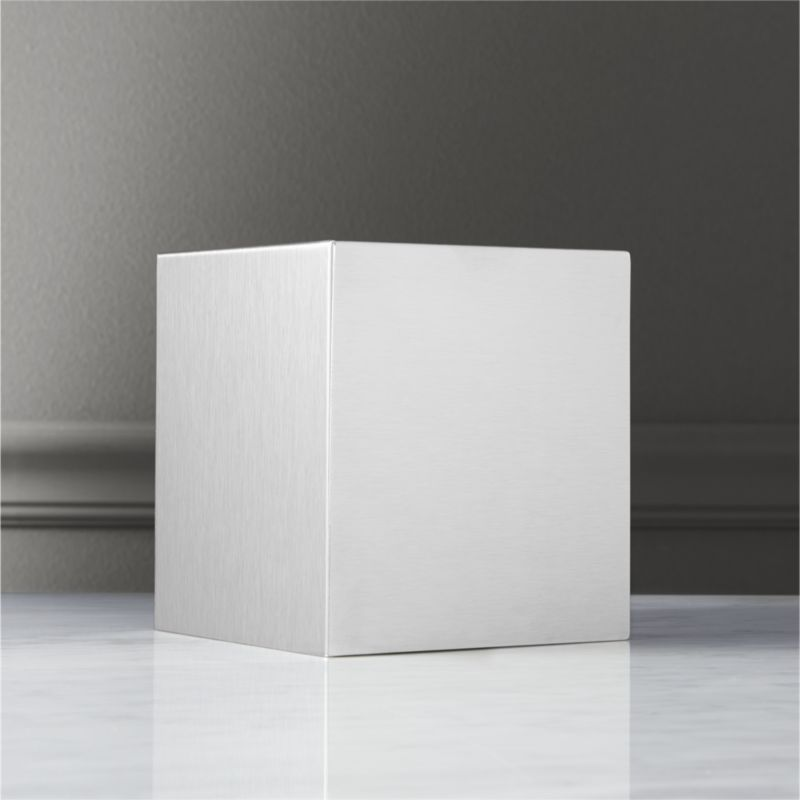 Stainless Steel Tissue Box Cover Reviews Cb2