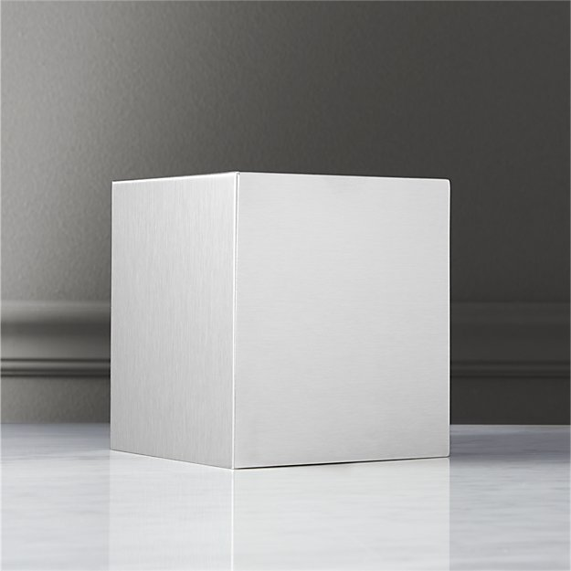 Stainless Steel Tissue Box Cover - Image 1 of 3