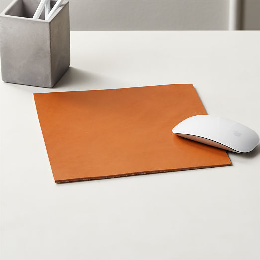 Rein Saddle Leather Mouse Pad