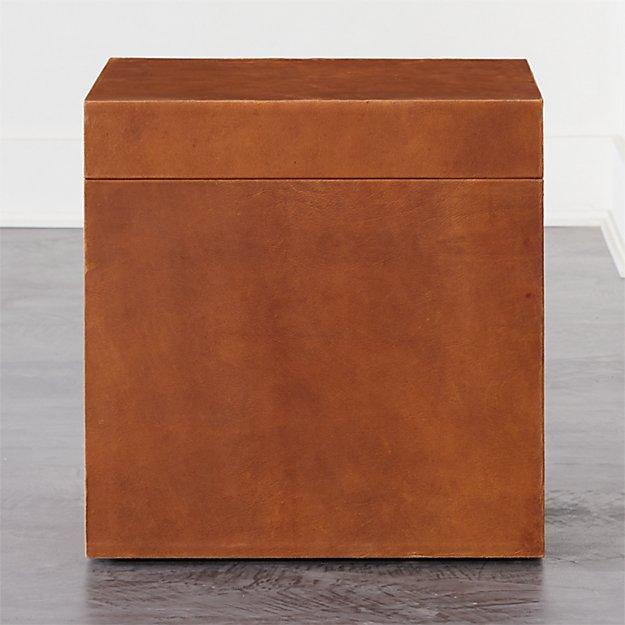Saddle Leather Trunk - Image 1 of 8