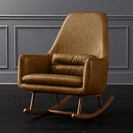 Sensational Saic Quantam Saddle Leather Rocking Chair Camellatalisay Diy Chair Ideas Camellatalisaycom