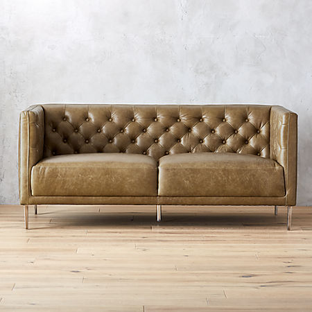 Fine Savile Saddle Leather Tufted Apartment Sofa Evergreenethics Interior Chair Design Evergreenethicsorg