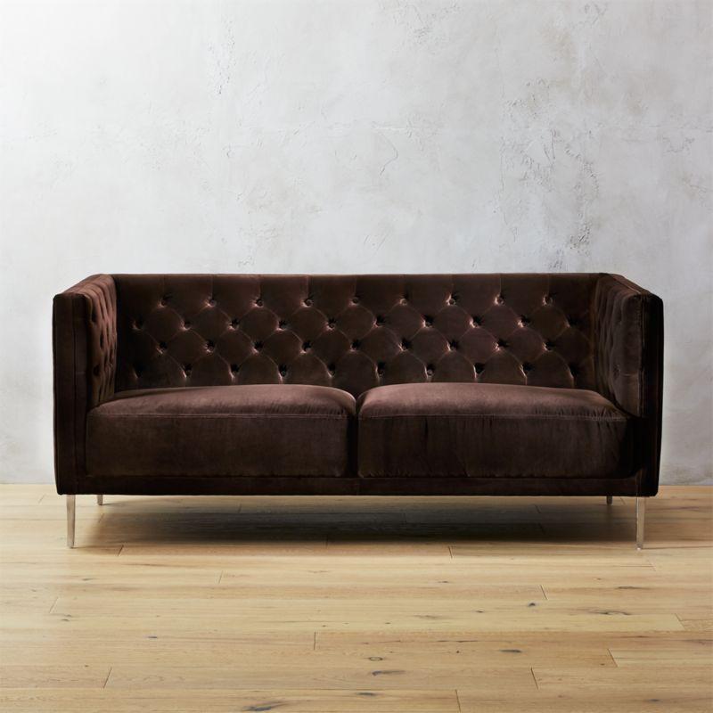 tufted apartment sofas | CB2