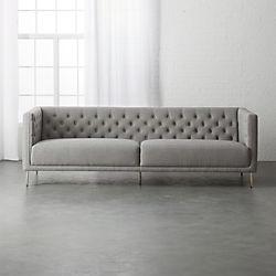 Savile Gris Tufted Sofa