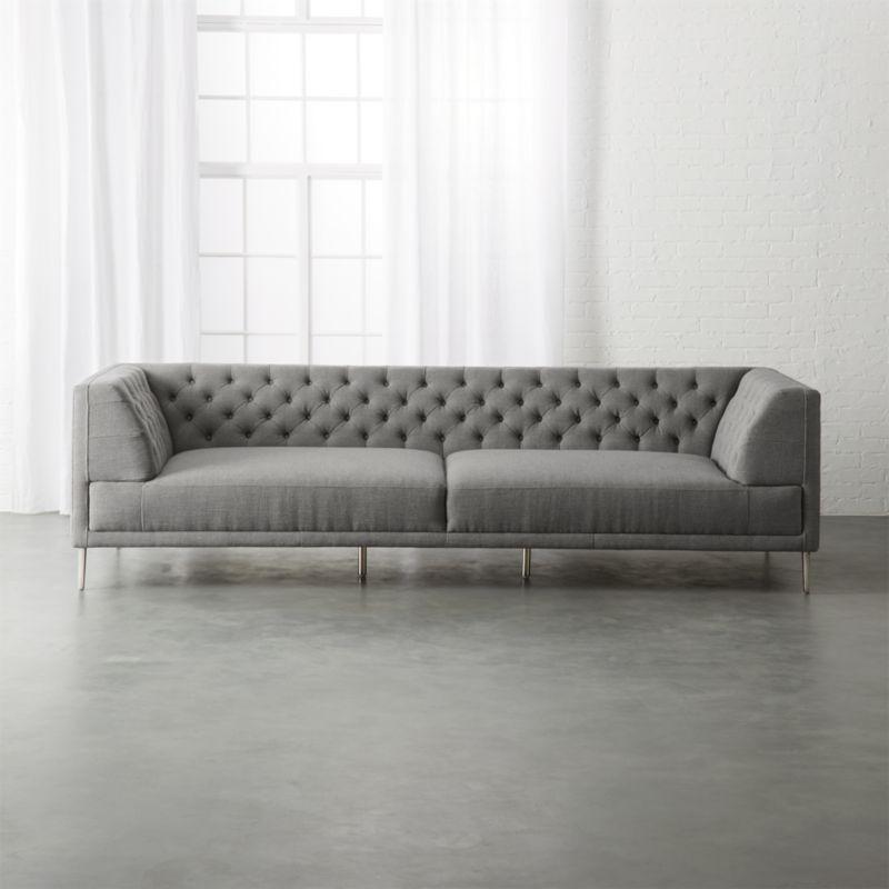 Large Grey Sofa Large Grey Fabric Corner Sofa Sofas Direct ...