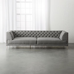 Savile Gris Tufted Extra Large Sofa