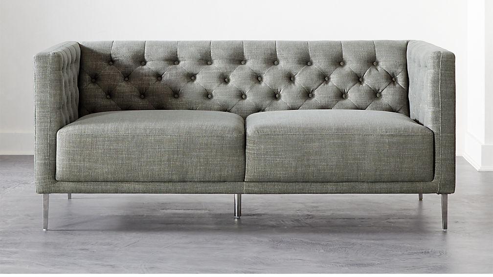 Savile Slate Tufted Apartment Sofa - Image 1 of 6