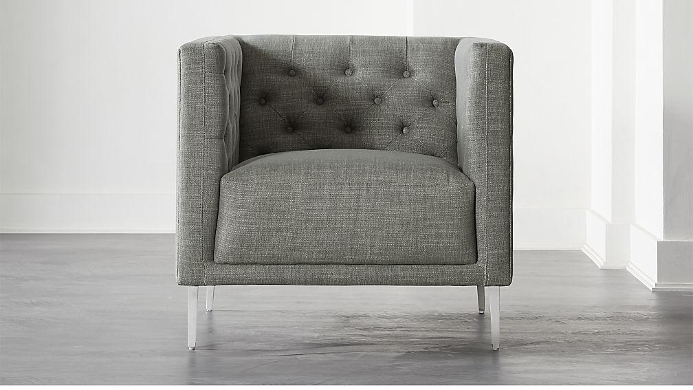 Savile Slate Tufted Chair - Image 1 of 6