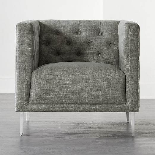 Savile Slate Tufted Chair