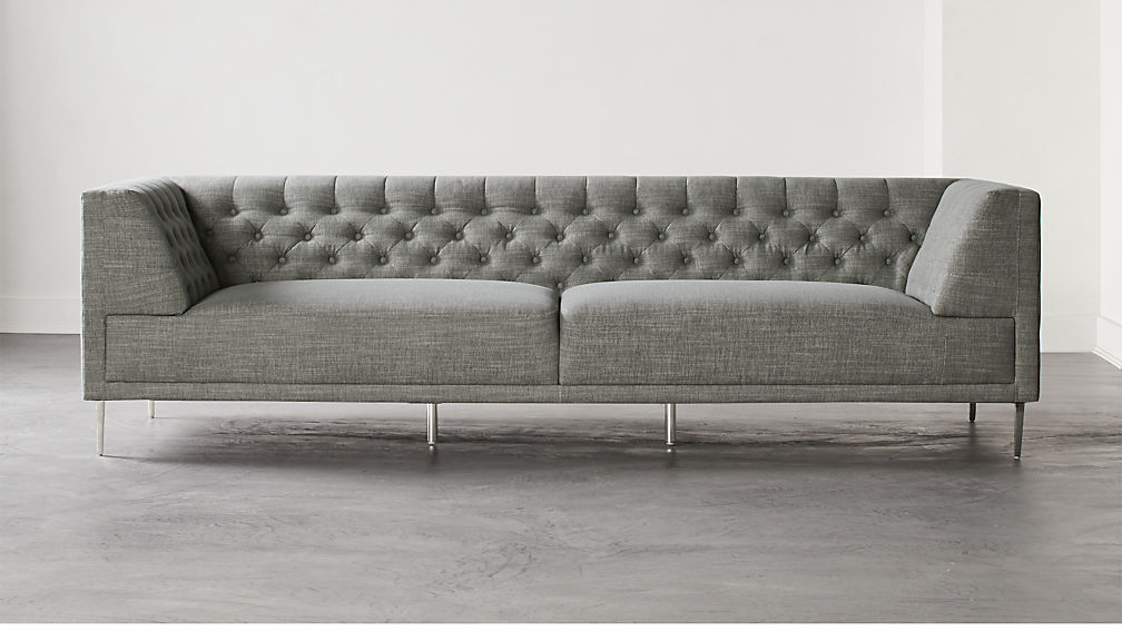 Savile Slate Tufted Extra Large Sofa - Image 1 of 7