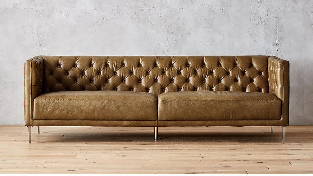 Savile Leather Tufted Sofa