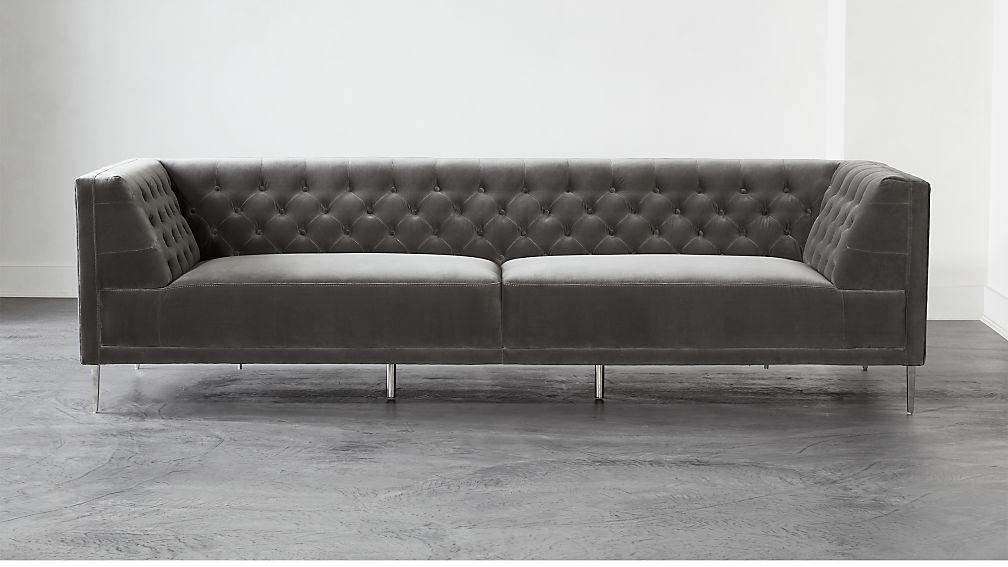 Savile Storm Velvet Extra Large Sofa - Image 1 of 6