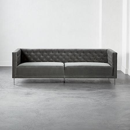 Savile Storm Velvet Sofa