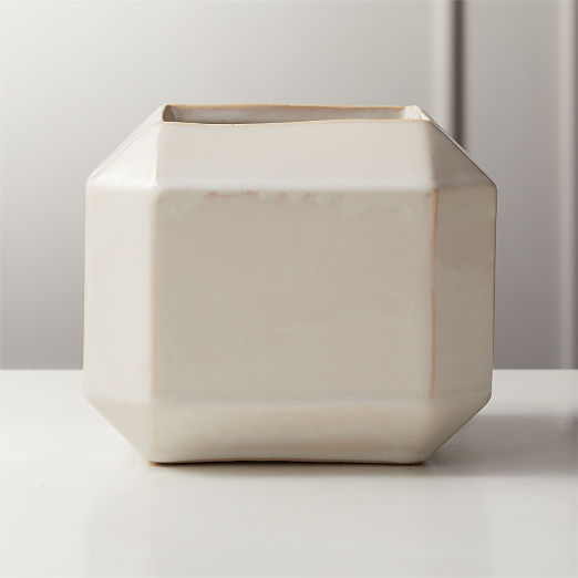 Sawyer Ivory Square Planter