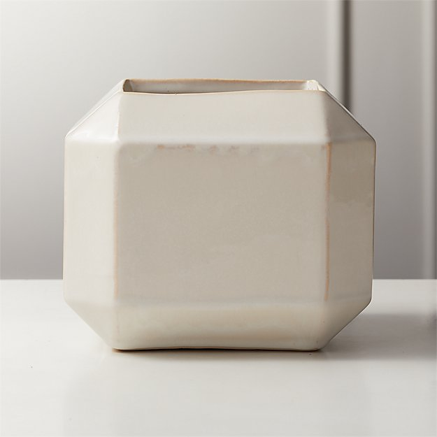 Sawyer Ivory Square Planter - Image 1 of 5
