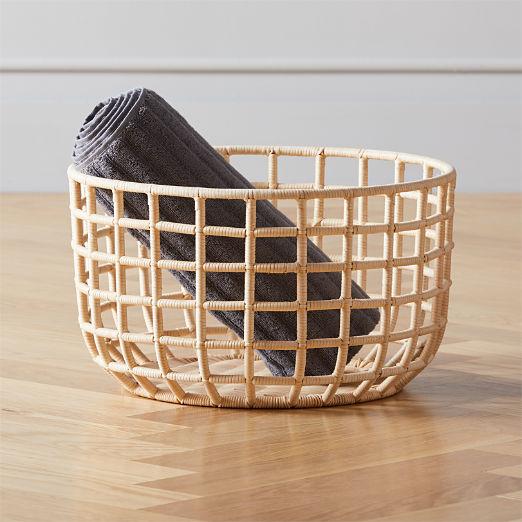 Scaffold Natural Rattan Basket