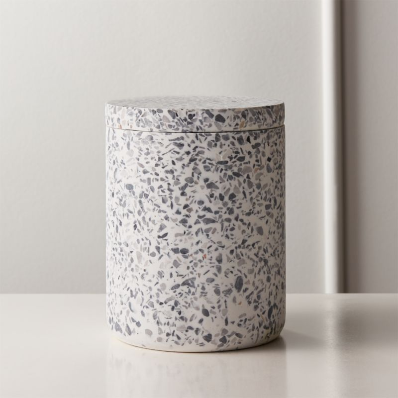 scala-terrazzo-canister-with-lid by crate&barrel