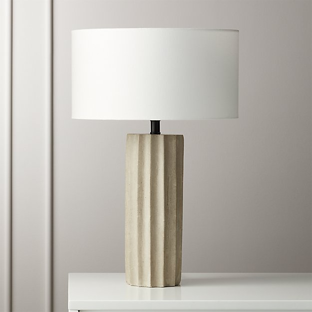 Scallop Concrete Table Lamp - Image 1 of 7