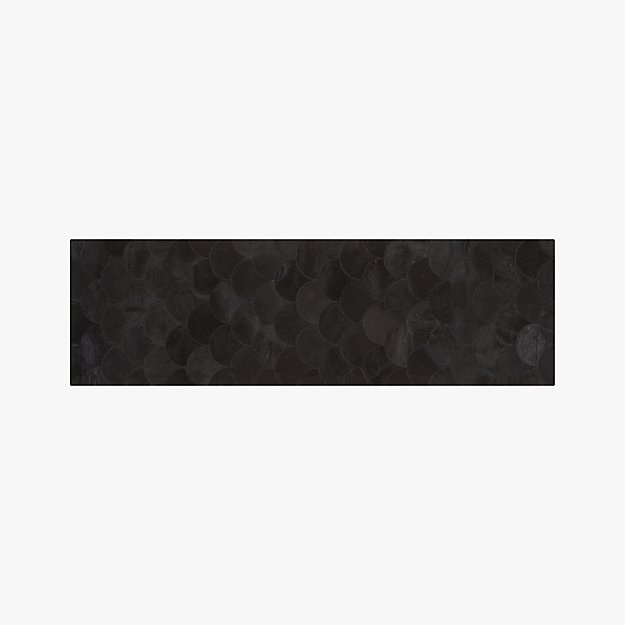 Scallop Black Hide Runner 2.5'x8' - Image 1 of 3