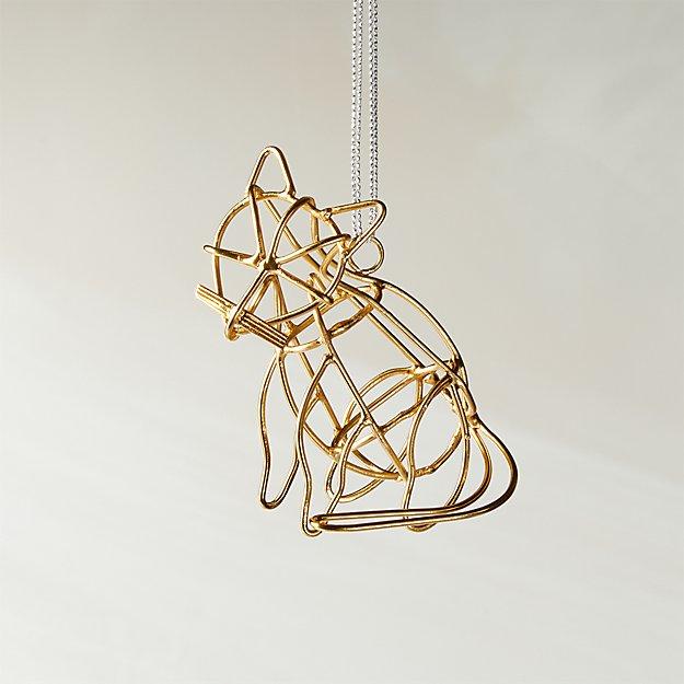 Sebastian Cat Brass Ornament - Image 1 of 4