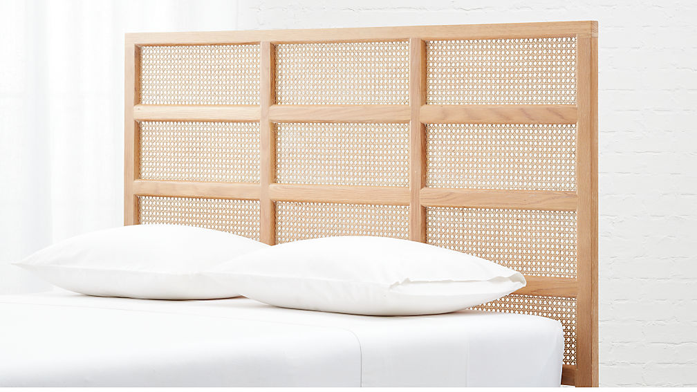 Segment Cane Headboard with Base Options - Image 1 of 10