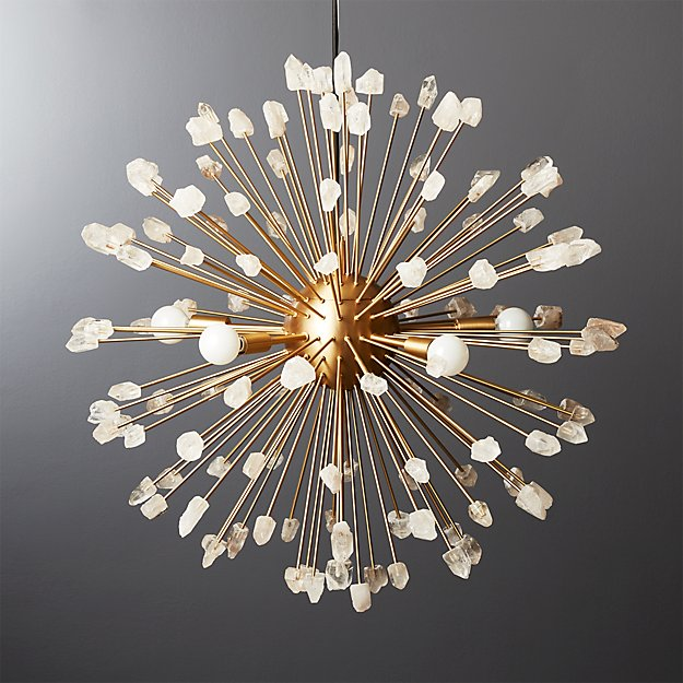 Ray Quartz Pendant Light - Image 1 of 12