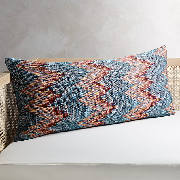 "36""x16"" Senica Multicolored Pillow - Image 1 of 6"