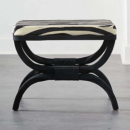 Pleasing Serpette Zebra Print Cowhide Stool Caraccident5 Cool Chair Designs And Ideas Caraccident5Info