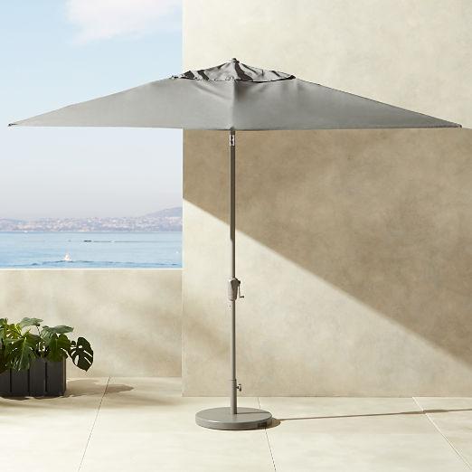 Shadow Rectangular Grey Umbrella with Base