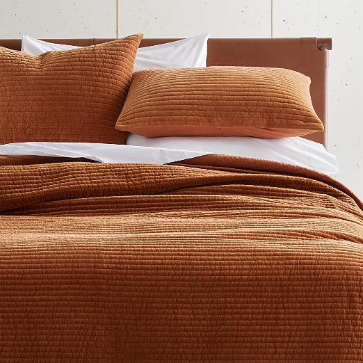 Shadow Copper Velvet Bedding