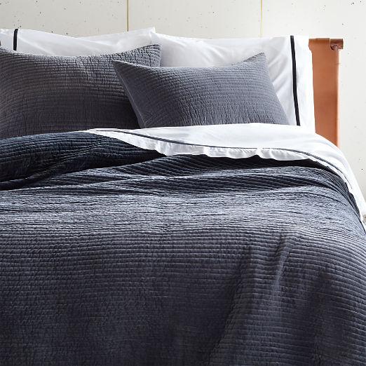 Shadow Grey Velvet Bedding
