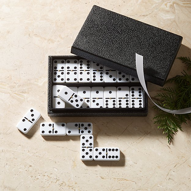 Shagreen Domino Set - Image 1 of 5