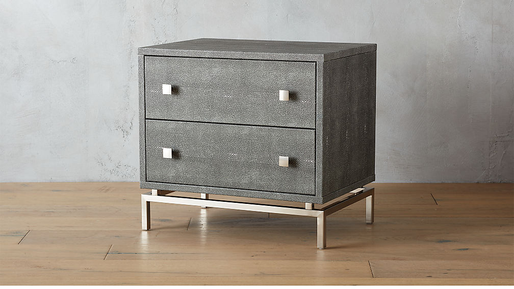 Embossed Shagreen Nightstand Reviews