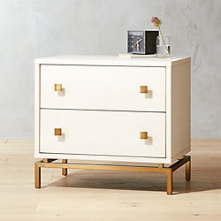 Ivory Reen Embossed Nightstand
