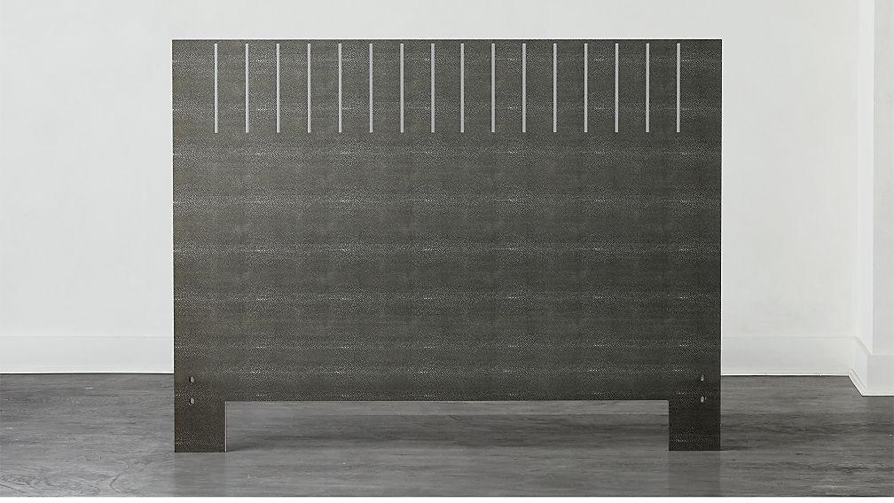 Shagreen Headboard Grey with Base Options - Image 1 of 9