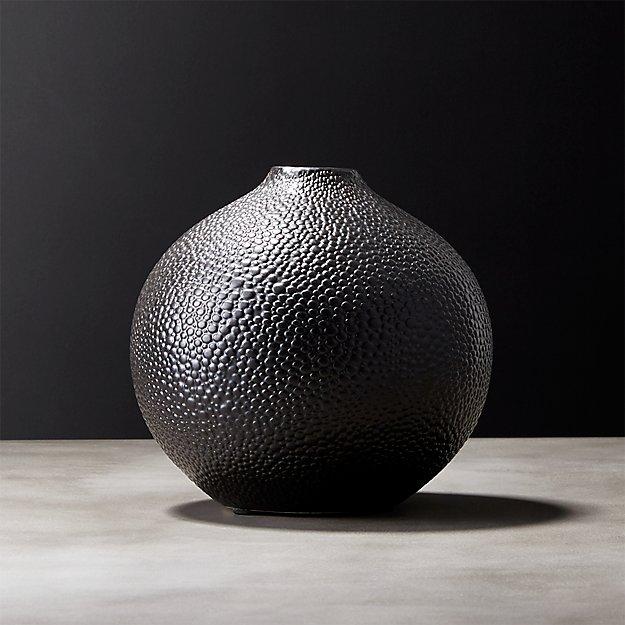 Shagreen Black Vase Reviews Cb2