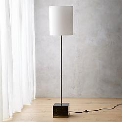 Modern floor lamps cb2 sharp black marble floor lamp aloadofball Image collections